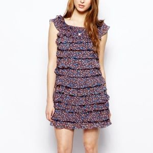 FRENCH CONNECTION Daisy Dew Ruffle Dress • NWT!
